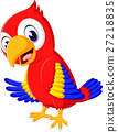 Cartoon cute parrot 27218835