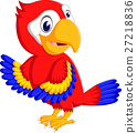 Cartoon cute parrot 27218836