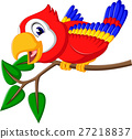 Cartoon cute parrot 27218837