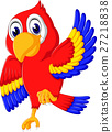 Cartoon cute parrot 27218838