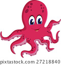 illustration of cute Octopus cartoon 27218840