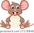 illustration of Cute baby mouse cartoon 27218848