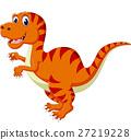 illustration of Cartoon happy dinosaur 27219228