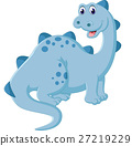 illustration of Cartoon happy dinosaur 27219229