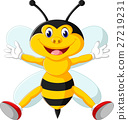 illustration of Cartoon adorable bees 27219231