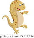 Cute lizard posing isolated on white background 27219234