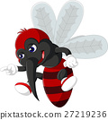 illustration of Angry mosquito cartoon 27219236