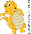 illustration of Cute dinosaur cartoon 27219240