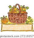 basket, pumpkin, vector 27219357