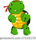 Cartoon funny turtle isolated on white background 27220170