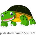 Cartoon funny turtle isolated on white background 27220171