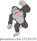 gorilla, cartoon, animal 27220175