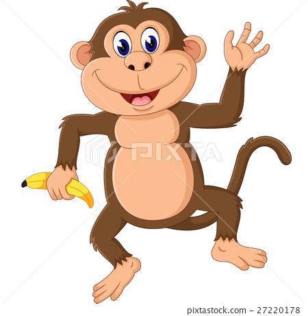 Cartoon monkey presenting 27220178