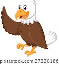 illustration of Cute eagle cartoon waving 27220186