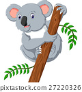 illustration of cute koala cartoon 27220326