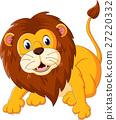 Cute lion cartoon of illustration 27220332
