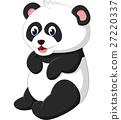 illustration of cute panda cartoon 27220337
