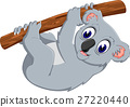 illustration of cute koala cartoon 27220440