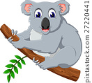 illustration of cute koala cartoon 27220441