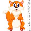 cute Fox cartoon of illustration 27220446