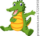 alligator, animal, cartoon 27220450