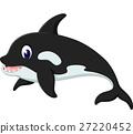 illustration of cute whale cartoon 27220452