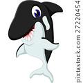 卡通 动物 鲸鱼 27220454