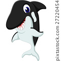 illustration of cute whale cartoon 27220454