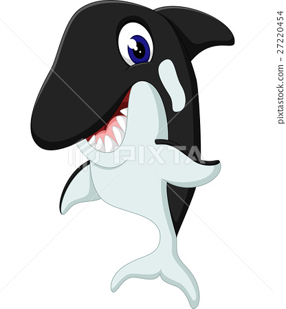 illustration of cute whale cartoon 27220454