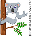 illustration of cute koala cartoon 27220467