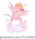Valentine's day. Cupid with a bow and arrow takes 27220483