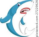illustration of cute shark cartoon 27220626