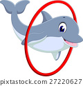 illustration of cute dolphin cartoon 27220627