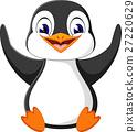 illustration of cute penguin cartoon 27220629