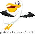 illustration of cute pelican cartoon 27220632