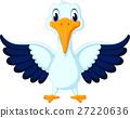 illustration of cute pelican cartoon 27220636