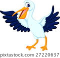 illustration of cute pelican cartoon 27220637