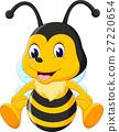 illustration of Cute bee cartoon 27220654