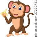 cute Cartoon monkey of illustration 27220731