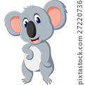 illustration of cute koala cartoon 27220736