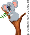 illustration of cute koala cartoon 27220740
