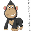 illustration of cute gorilla cartoon 27220742
