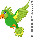 illustration of cute birds flying 27220875