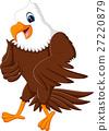 illustration of Cute eagle cartoon 27220879