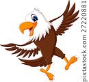 illustration of Cute eagle cartoon 27220881