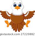 illustration of Cute eagle cartoon 27220882