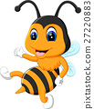 illustration of Cartoon adorable bees 27220883