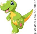 illustration of cute dinosaurus cartoon 27220887
