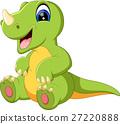 illustration of cute dinosaurus cartoon 27220888
