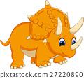 illustration of cute Triceratops cartoon 27220890